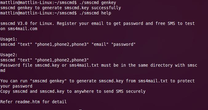 Linux Console Send SMS Unix Send SMS